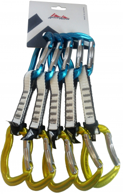 AustriAlpin - Rockit Color 5er Express Set Tanga, blau/gelb eloxiert, 11 cm