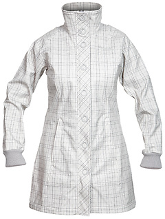 Bergans - Mandal Lady Coat, aluminium/solid dark grey checked, Gr. S