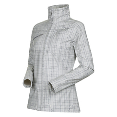 Bergans - Mandal Lady Jacket, aluminium/solid dark grey checked, Gr. XS