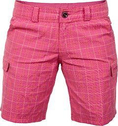 Bergans - Utne Lady Shorts, light magenta pink/nectarine checked, Gr. XS