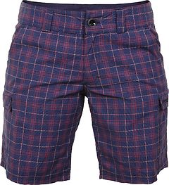 Bergans - Utne Lady Shorts, navy/red checked, Gr. XS