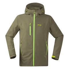 Bergans - Kjerag Softshell Jacket, greyish olive/neon green, Gr. S