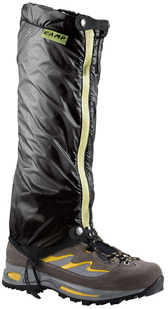 Camp - Gamasche Kristal Gaiter, one size, black/lime green