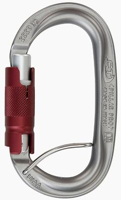 Climbing Technology - Oval Trilockkarabiner Pillar Pro TGL Spring Bar, eloxiert