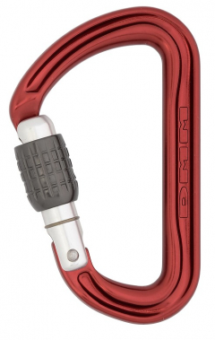 DMM - Karabiner Shadow Keylock Screw Gate, red