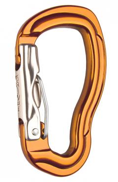 Grivel - Sicherheitskarabiner Tau Wire-Lock, orange eloxiert
