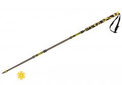 Grivel - Trekking-/Trailrunningstock Trail Three, yellow/black, 130 cm