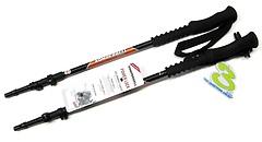 Komperdell - Trekkingstock Titanal Contour Powerlock II bis 140cm, black/orange