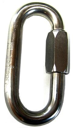 Maillon Rapide - Mini Oval, Schraubglied, verzinkt d=5mm, 2,8 kN
