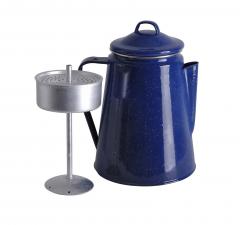 Origin Outdoors by Relags - Emaille Kaffeekanne, blau, 1,8 L