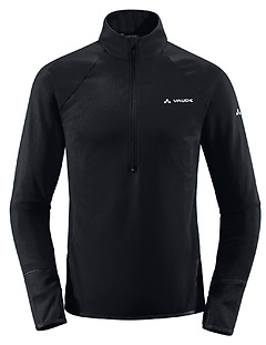 VauDe - Men Livigno Fleece HalfZip, black, Gr. XXL