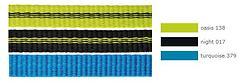 Edelrid - 12mm Tech Web Flachband Dyneema/Polyamid, turquoise, Preis pro Meter