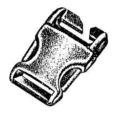 Basic Nature - Kunststoff Steckschließe Spezial II/Stealth buckle, 25 mm
