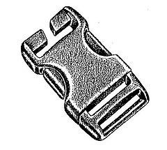 Basic Nature - Kunststoff Steckschließe Spezial/Stealth buckle, black, 25 mm