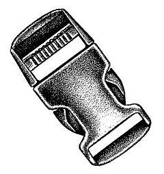 National Molding - Kunststoff Steckschließe/Stealth buckle, black, 20 mm