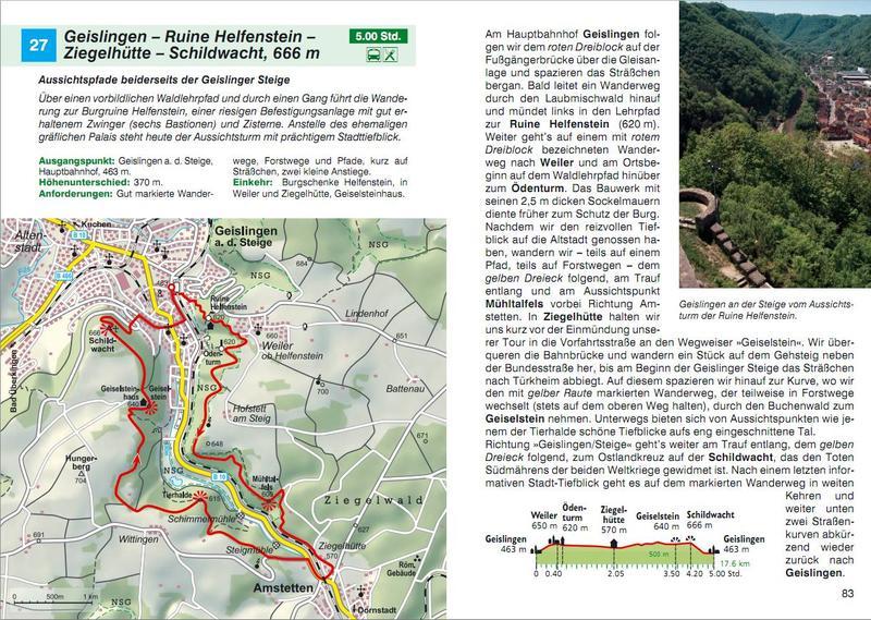Schwäbische Alb Karte Städte.Bergverlag Rother Wanderführer Schwäbische Alb Ost