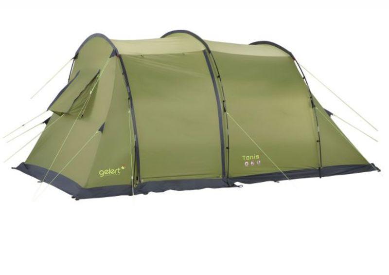 gelert camping tunnelzelt tanis 4 personen gr n. Black Bedroom Furniture Sets. Home Design Ideas