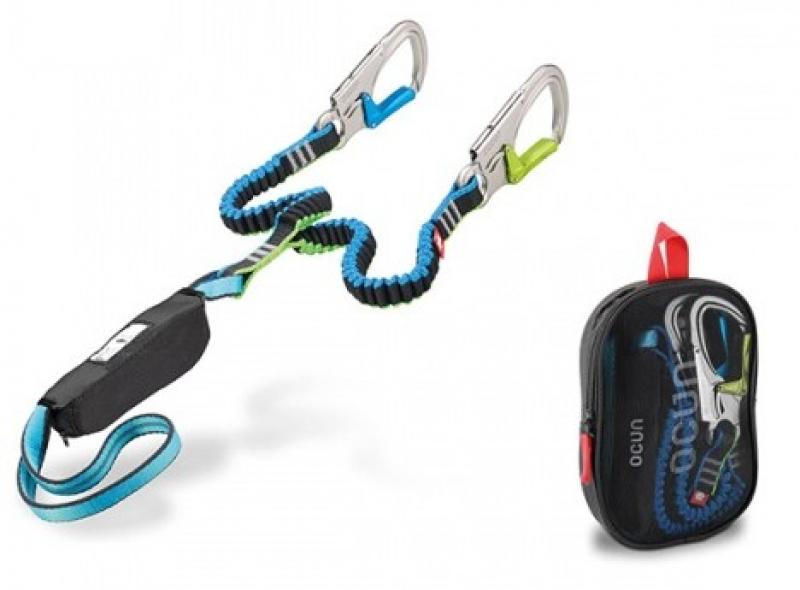 Klettersteig Set : Ocun klettersteigset via ferrata vf torq black blue green