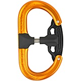 AustriAlpin - Autolock Karabiner Fifty-Fifty, orange eloxiert