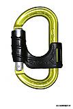 AustriAlpin - Ovalock mit Sperre, gelb eloxiert mit Kunststoffsicherung