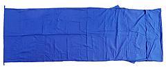 Basic Nature - Hüttenschlafsack Baumwollinlett deckenform, royalblau