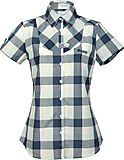 Bergans - Dalen Lady Shirt Short Sleeve, cold mint checked, Gr. M