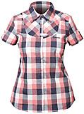Bergans - Dalen Lady Shirt Short Sleeve, watermelon checked, Gr. S