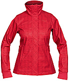 Bergans - Mandal Lady Jacket, dark watermelon/solid dark grey checked, Gr. S