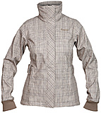 Bergans - Mandal Lady Jacket, greyish light brown/navy checked, Gr. S