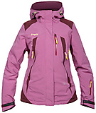 Bergans - Oppdal Insulated Lady Jacket, light purple/deep purple/yellow, Gr. S