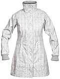 Bergans - Mandal Lady Coat, aluminium/solid dark grey checked, Gr. L