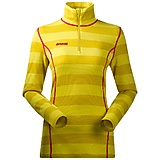 Bergans - Akeleie Lady Half Zip, Hybrid Wool, yellowgreen/lemon striped, Gr. XS