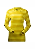 Bergans - Akeleie Lady Shirt, Hybrid Wool, yellowgreen/lemon striped, Gr. XS