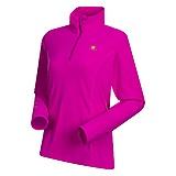 Bergans - Alsten Fleece Lady Zip Polo, dark tulip pink, Gr. S