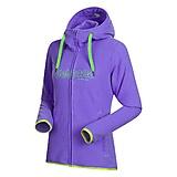 Bergans - Bryggen Fleece Lady Jacket, light primula purple/timothy green, Gr. S