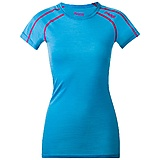 Bergans - Soleie Merino Lady Tee, bright sea blue/hot pink, Gr. XS