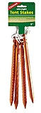 Coghlans - Alu Zelt Heringe Ultralight Tent Stakes, orange, 4er Pack