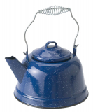 GSI Outdoors - Emaille Teekessel mit Klapphenkel Tea Kettle, 2,3L, blue