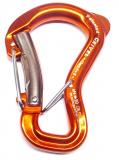 Grivel - Sicherheitskarabiner Clepsydra S Twin Gate, orange eloxiert