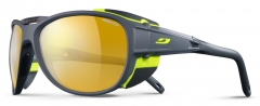 Julbo - Gletscherbrille Explorer 2.0, Reactiv Performance 2-4, grau/gelb