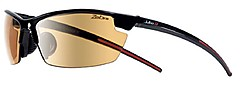 Julbo - Outdoorbrille Tracks, Zebra, schwarz glänzend/rot