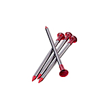 MSR - Zeltheringe 4er Set Carbon-Core Tent Stake Kit, red/silver