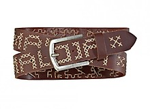 Maloja - G�rtel GamanderM Leather Belt, mud, 100cm