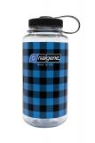 Nalgene - Weithalsflasche Everyday, Loop-Top, 1L, blau kariert