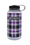 Nalgene - Weithalsflasche Everyday, Loop-Top, 1L, purple kariert