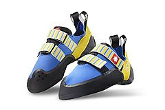 Ocun - Kletterschuh Strike QC Velcro, blue/yellow, Gr. UK 4,5