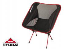 Stubai - Outdoor Stuhl Profi Campingsessel, schwarz/rot