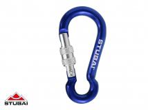 Stubai - Schlüsselanhänger Minikarabiner Dwarf EL mit Schraubsicherung, blau