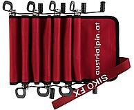 AustriAlpin - Eisschraubentasche Siko Bag für bis zu 7 Schrauben, rot/schwarz