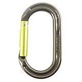 DMM - Oval Karabiner Ultra O Keylock, Straightgate, titanium/lime green
